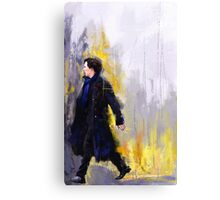 Walking Sherlock Metal Print