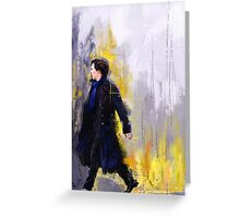 Walking Sherlock Greeting Card