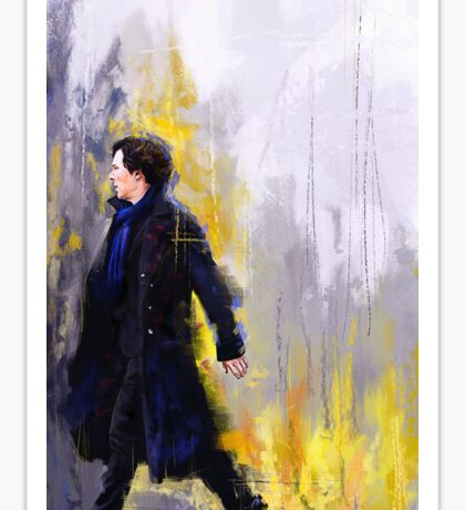 Walking Sherlock Sticker