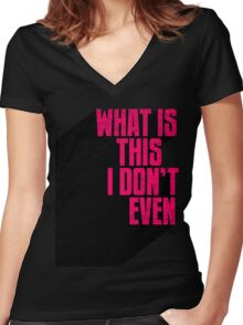 Incredulous Women's Fitted V-Neck T-Shirt