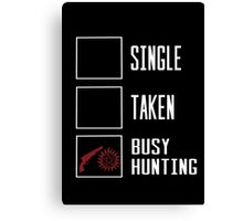 Busy hunting  Canvas Print