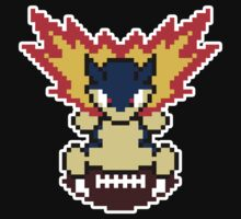 Typhlosion on a football by bbyxtrickz