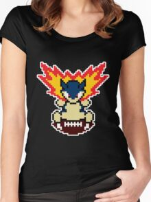 Typhlosion on a football Women's Fitted Scoop T-Shirt