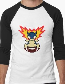 Typhlosion on a football Men's Baseball ¾ T-Shirt