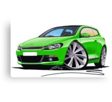 VW Scirocco (Mk3) Green Canvas Print