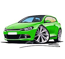VW Scirocco (Mk3) Green Photographic Print