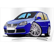 VW Golf R32 (Mk5) Blue Poster