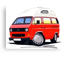 VW T25 / T3 (High Top) Red Canvas Print