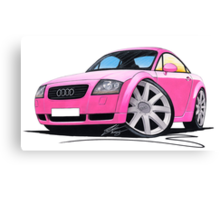Audi TT Pink Canvas Print