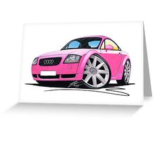 Audi TT Pink Greeting Card