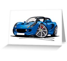 Lotus Elise S2 Blue Greeting Card