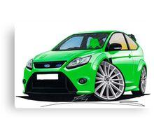 Ford Focus RS (Mk2) Green Canvas Print