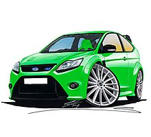 Ford Focus RS (Mk2) Green Photographic Print