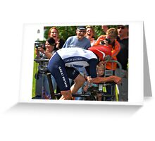 Wiggins going for his Olympic Gold  Greeting Card