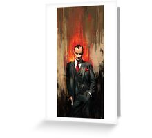 Mycroft Holmes Greeting Card