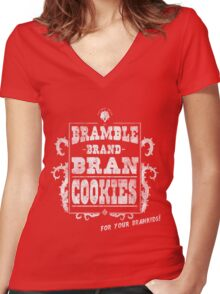 Bramble Brand Bran Cookies! Women's Fitted V-Neck T-Shirt