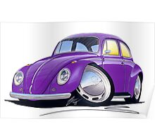 VW Beetle Purple Poster