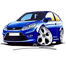 Ford Focus ST (Facelift) Blue Photographic Print