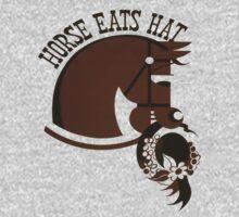 Horse Eats Hat (Brown) Baby Tee