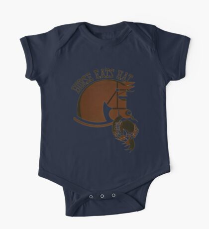 Horse Eats Hat (Brown) Vintage Poster One Piece - Short Sleeve