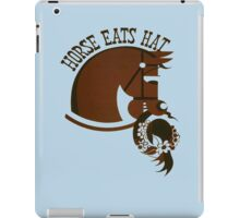 Horse Eats Hat (Brown) iPad Case/Skin