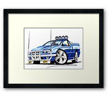 Ford Falcon XR8 Ute Blue Framed Print