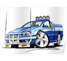 Ford Falcon XR8 Ute Blue Poster
