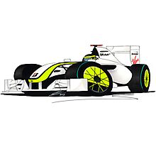 F1 2009 - BrawnGP - Jenson Button Photographic Print