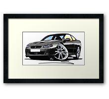 Vauxhall Monaro VXR Black Framed Print