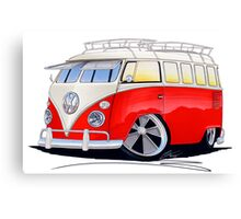 VW Splitty (15 Window) Camper (A) Canvas Print