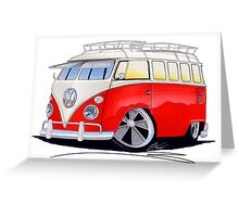 VW Splitty (15 Window) Camper (A) Greeting Card