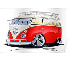 VW Splitty (15 Window) Camper (A) Poster