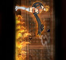 Ninja on Fire!... by mizuko