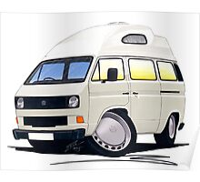 VW T25 / T3 (High Top) White Poster