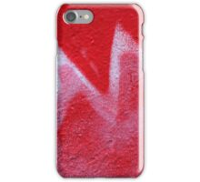 Red zig-zag iPhone Case/Skin