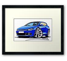 VW Scirocco (Mk3) Blue Framed Print
