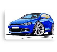 VW Scirocco (Mk3) Blue Canvas Print