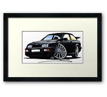 Ford Sierra Cosworth Black Framed Print