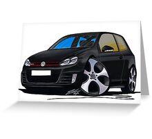 VW Golf GTi (Mk6) Black Greeting Card
