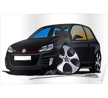 VW Golf GTi (Mk6) Black Poster