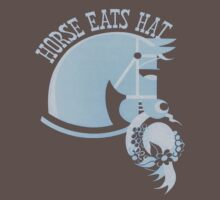 Horse Eats Hat (Blue) One Piece - Short Sleeve