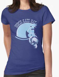Horse Eats Hat (Blue) T-Shirt