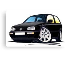 VW Golf (Mk3) Black Canvas Print