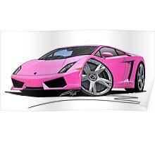 Lamborghini LP560/4 Pink Poster
