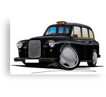 London Fairway Taxi Black Canvas Print