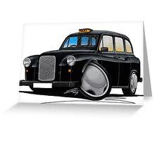 London Fairway Taxi Black Greeting Card