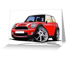 MINI [BMW] (Mk2) Cooper S Red Greeting Card