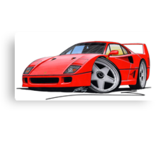 Ferrari F40 Red Canvas Print
