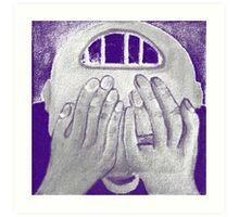 Depression 2012 in Blue Chalk Art Print