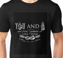 You and I - Typography Unisex T-Shirt